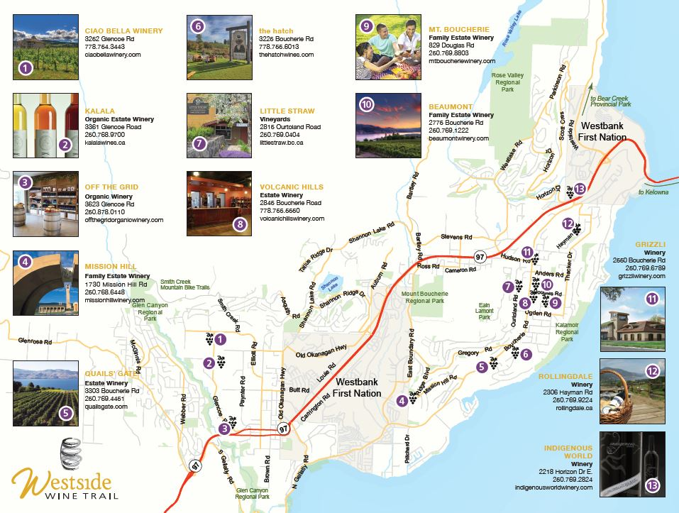 2016 Westside Wine Trail Map