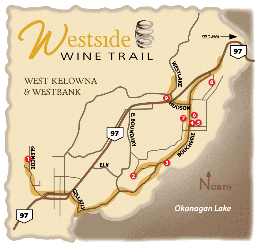 westside wine trail map