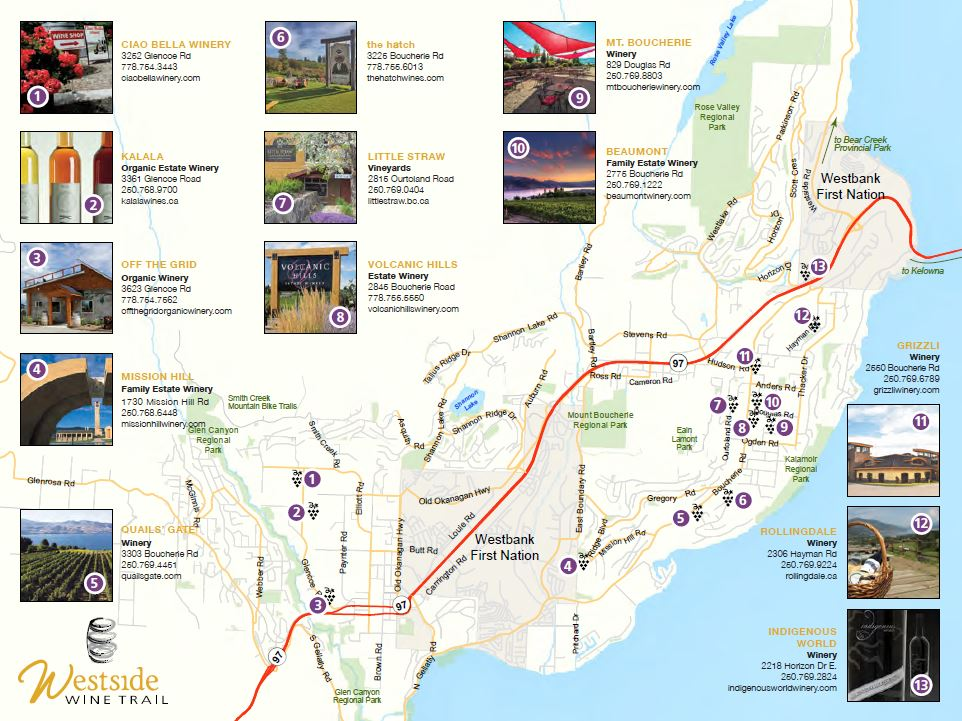 Wineries | Westside Wine Trail Map | Kelowna Wineries