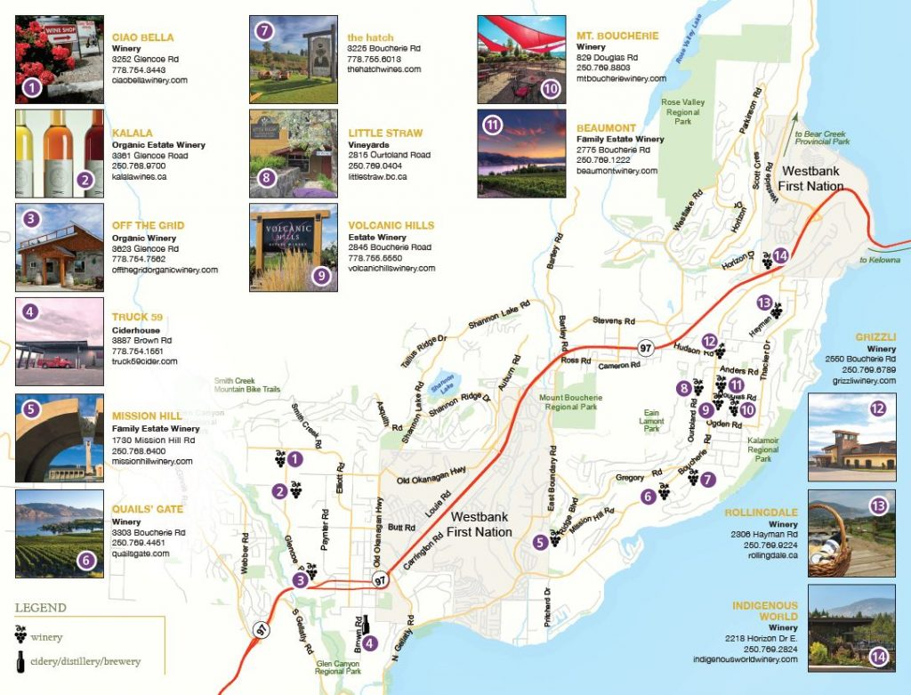 Westside Wine Trail Wineries Map